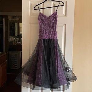 Betsey Johnson Purple & Black Lace Dress